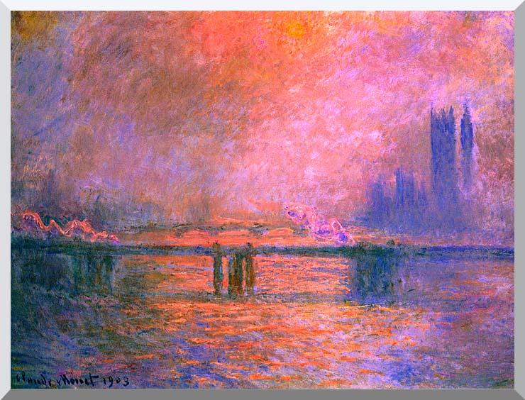 Claude Monet Charing Cross Bridge, la Tamise 1903 stretched canvas art print