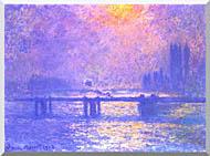 Claude Monet Charing Cross Bridge La Tamise stretched canvas art