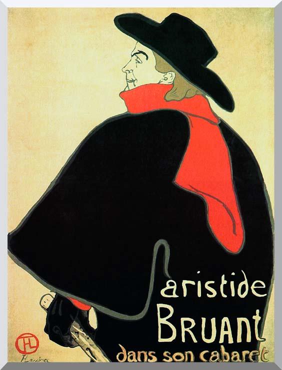 Henri de Toulouse Lautrec Aristide Bruant in his Cabaret stretched canvas art print