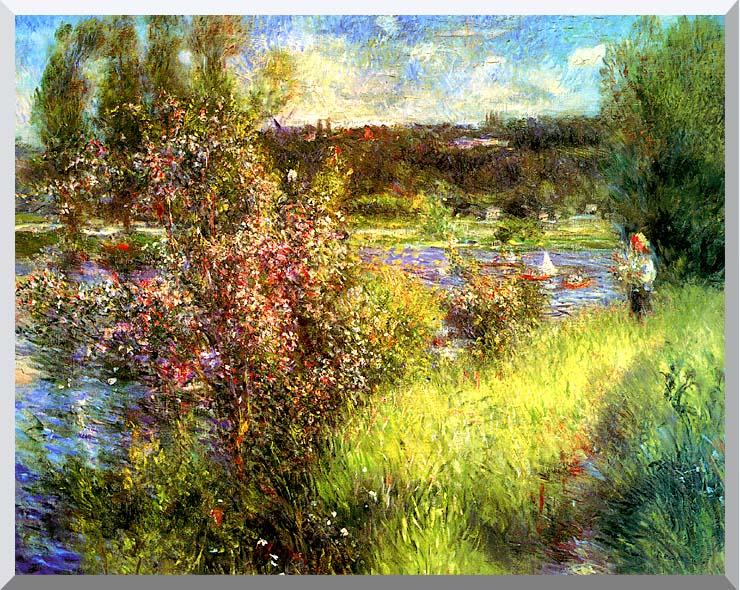 Pierre Auguste Renoir The Seine at Chatou stretched canvas art print