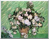 Vincent Van Gogh Vase With Pink Roses I stretched canvas art