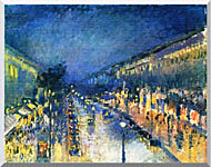 Camille Pissarro Boulevard Montmartre Night Effect stretched canvas art