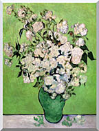 Vincent Van Gogh Vase With Pink Roses III stretched canvas art
