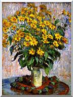 Claude Monet Jerusalem Artichoke Flowers stretched canvas art