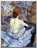 Henri De Toulouse Lautrec Rousse La Toilette stretched canvas art
