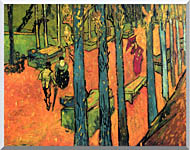 Vincent Van Gogh Les Alyscamps Avenue At Arles stretched canvas art