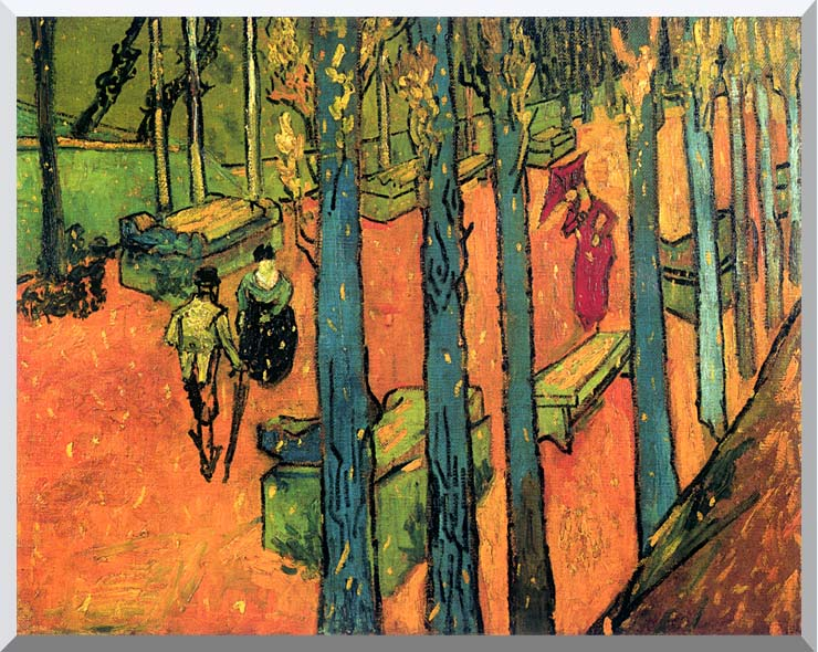 Vincent van Gogh Les Alyscamps, Avenue at Arles stretched canvas art print
