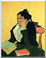 Vincent Van Gogh Madame Ginoux With Books stretched canvas art