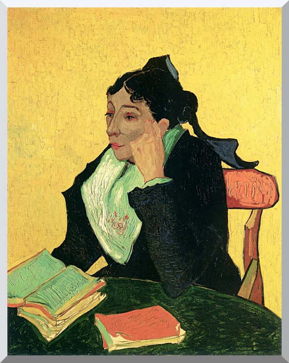 Vincent van Gogh Madame Ginoux with Books stretched canvas art print
