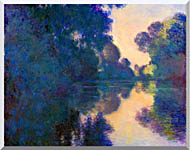 Claude Monet Morning On The Seine Near Giverny stretched canvas art