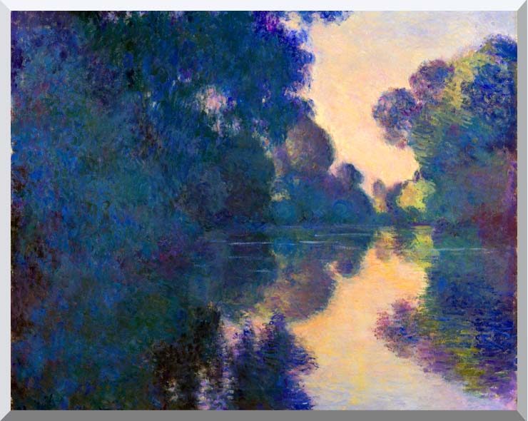 Claude Monet Morning on the Seine near Giverny stretched canvas art print