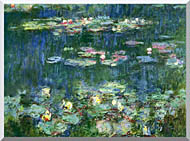 Claude Monet Green Reflections III Right Detail stretched canvas art