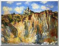 Claude Monet The Church At Varengeville Morning Effect Landscape Detail stretched canvas art