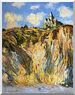 Claude Monet The Church At Varengeville Morning Effect Portrait Detail stretched canvas art