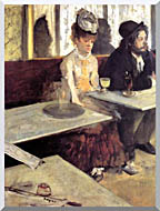 Edgar Degas The Absinthe Drinker In A Cafe stretched canvas art