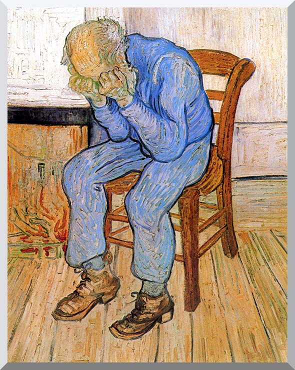 Vincent van Gogh Old Man in Sorrow stretched canvas art print