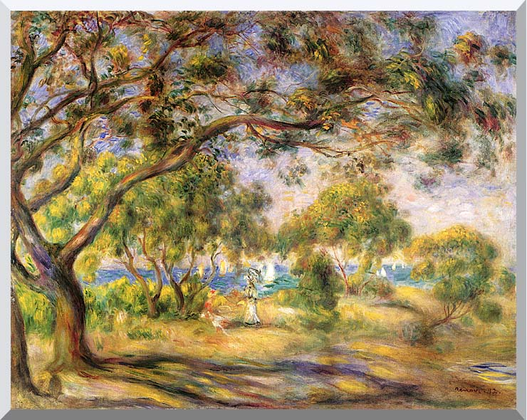 Pierre Auguste Renoir Noirmoutiers stretched canvas art print