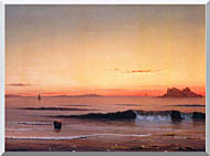 Martin Johnson Heade Twilight Singing Beach Detail stretched canvas art
