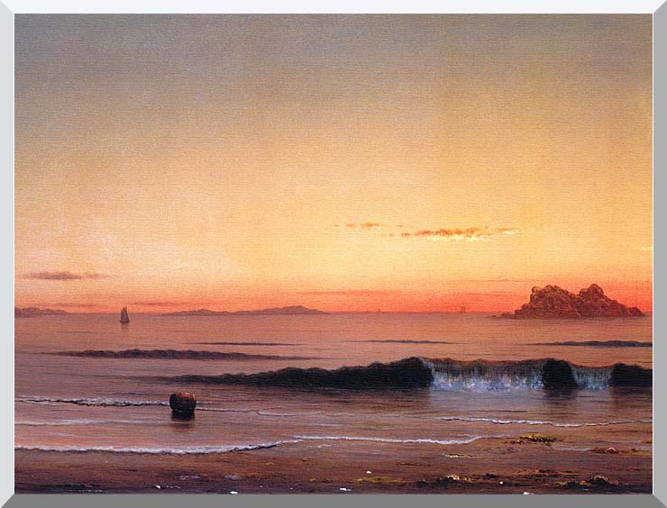 Martin Johnson Heade Twilight, Singing Beach (detail) stretched canvas art print