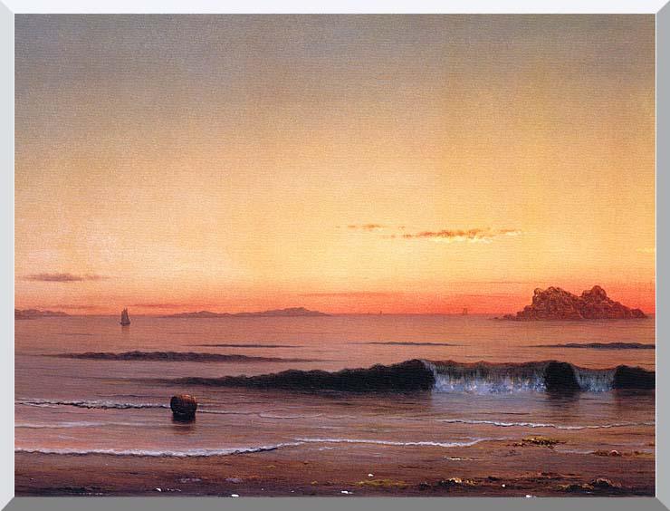 Martin Johnson Heade Twilight, Singing Beach (detail) stretched canvas art print