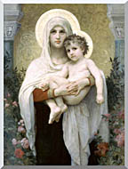 William Bouguereau Madonna Of The Roses stretched canvas art