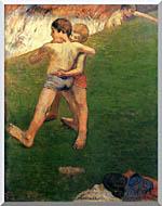 Paul Gauguin Boys Wrestling stretched canvas art