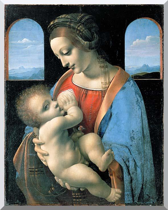 Leonardo Da Vinci Madonna Litta stretched canvas art print