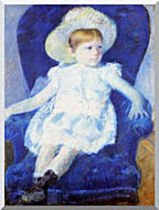 Mary Cassatt Elsie In A Blue Chair stretched canvas art