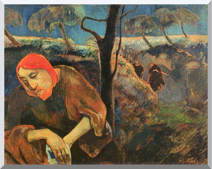 Paul Gauguin Christ in the Garden of Olives stretched canvas art print