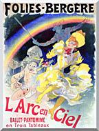 Jules Cheret Folies Bergere Larc En Ciel stretched canvas art
