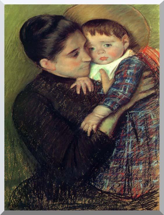 Mary Cassatt Helene de Septeuil stretched canvas art print
