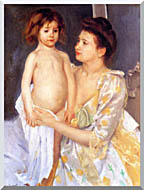 Mary Cassatt Jules Being Dried By His Mother stretched canvas art