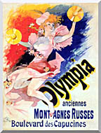 Jules Cheret Olympia stretched canvas art