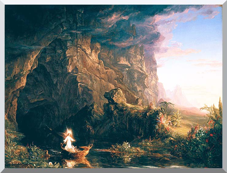 Thomas Cole The Voyage of Life: Childhood stretched canvas art print