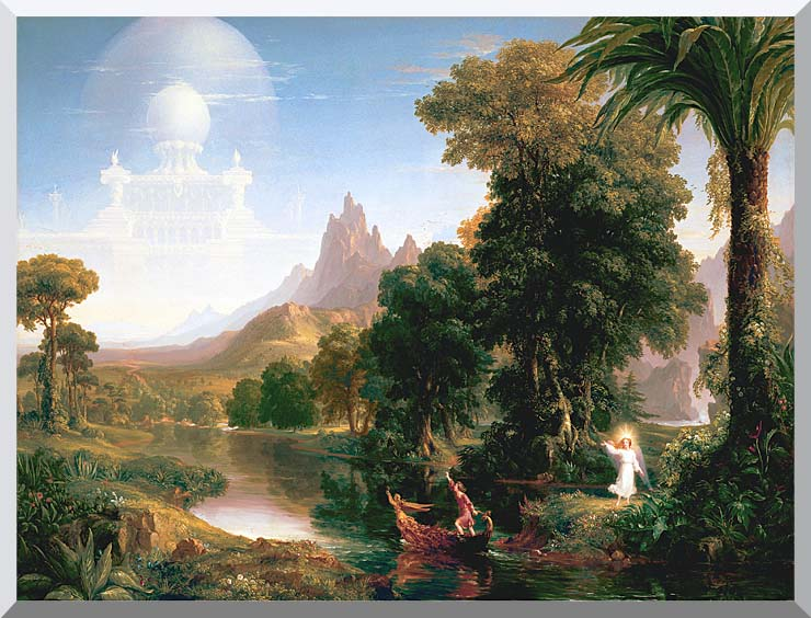 Thomas Cole The Voyage of Life: Youth stretched canvas art print