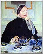 Mary Cassatt Lady At The Tea Table stretched canvas art