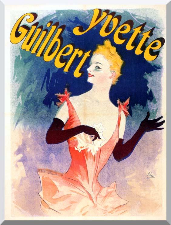 Jules Cheret Yvette Guilbert au Concert Parisien stretched canvas art print