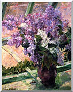 Mary Cassatt Lilacs In The Window stretched canvas art