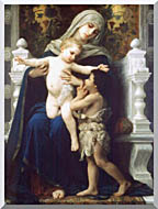 William Bouguereau Madonna And Child With Saint John The Baptist stretched canvas art