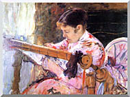 Mary Cassatt Lydia At The Tapestry Loom stretched canvas art