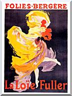 Jules Cheret Folies Bergere La Loie Fuller stretched canvas art