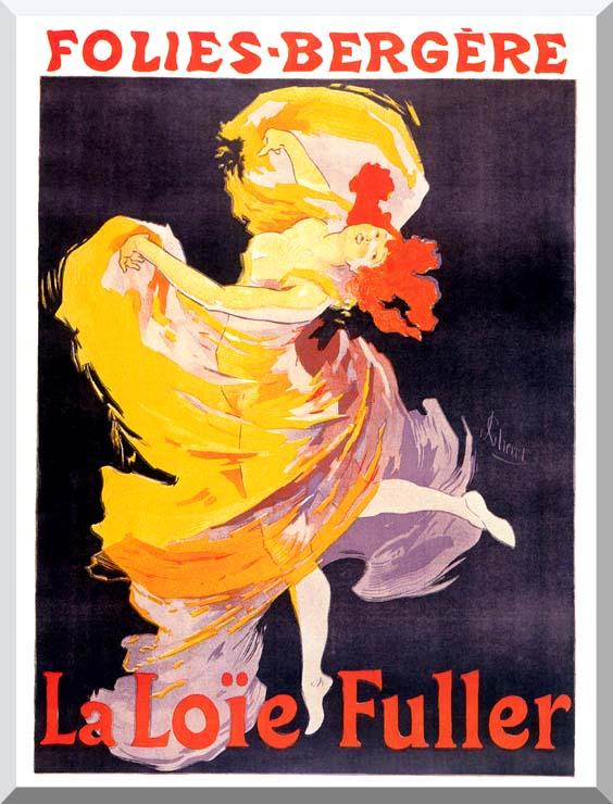 Jules Cheret Folies-Bergere La Loie Fuller stretched canvas art print