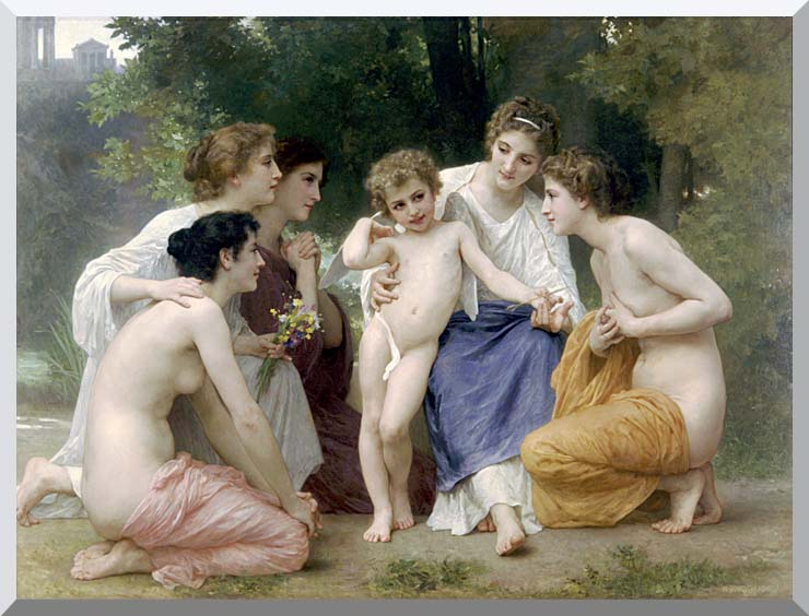 William Bouguereau Admiration stretched canvas art print