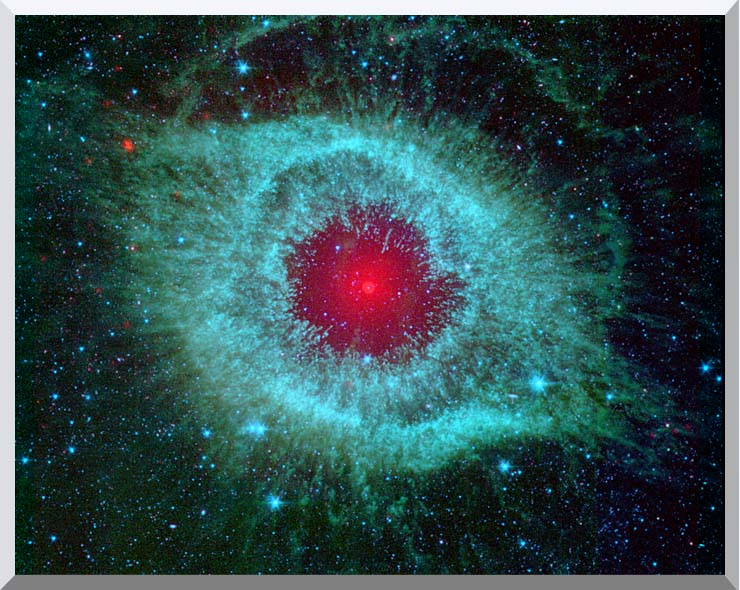 Courtesy Nasa Jpl Caltech Comets Kick Up Dust in Helix Nebula stretched canvas art print