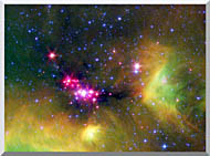 Courtesy Nasa Jpl Caltech Stars In Serpens stretched canvas art