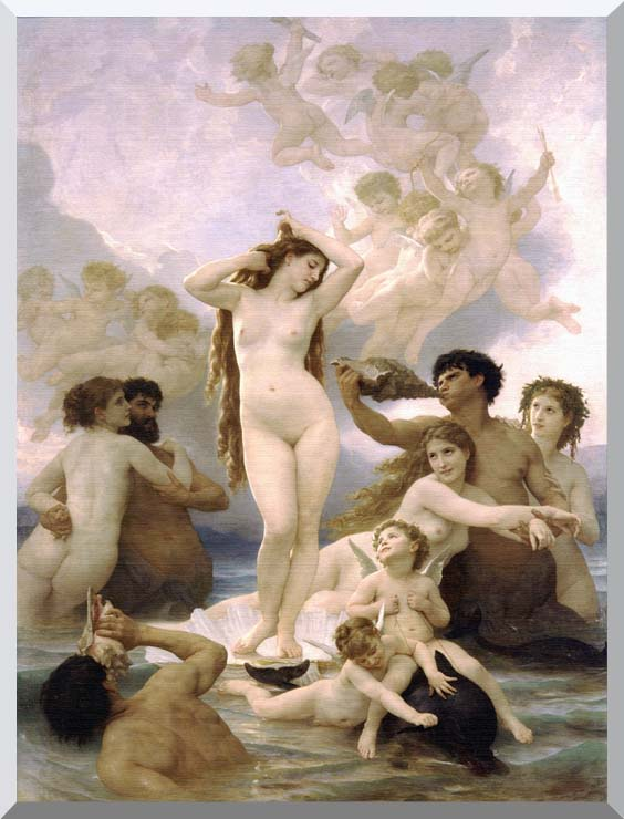 William Bouguereau The Birth of Venus stretched canvas art print
