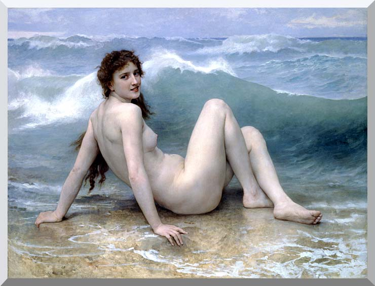 William Bouguereau The Wave stretched canvas art print