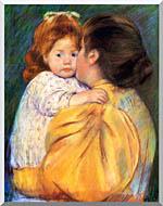 Mary Cassatt Maternal Kiss stretched canvas art