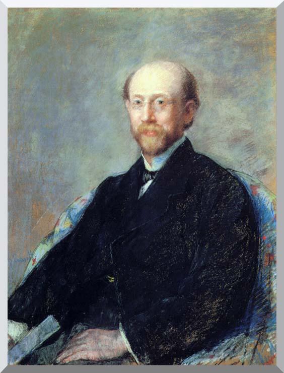 Mary Cassatt Moise Dreyfus stretched canvas art print