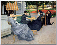 Gustave Caillebotte Portraits In The Countryside stretched canvas art